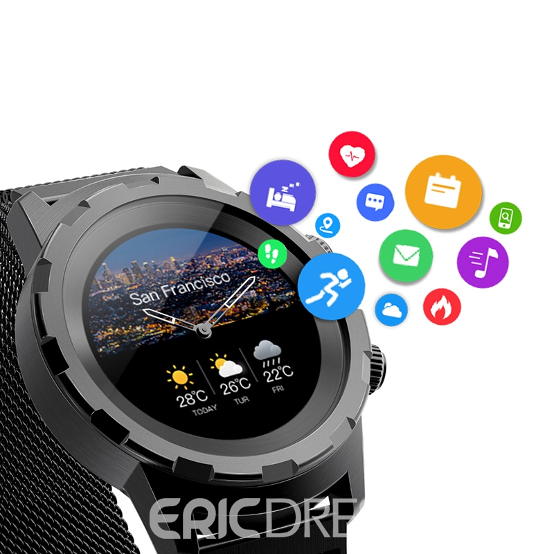 Ericdress New Style Circle Color Heart Rate Waterproof Sport Watch Bracelet