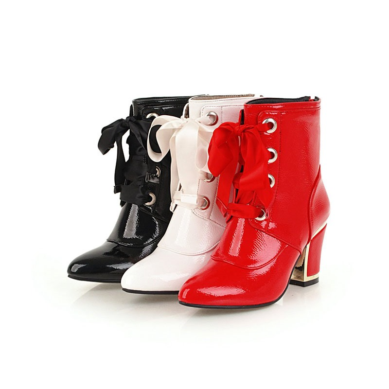 Ericdress PU Pointed Toe Chunky Heel Women's Ankle Boots