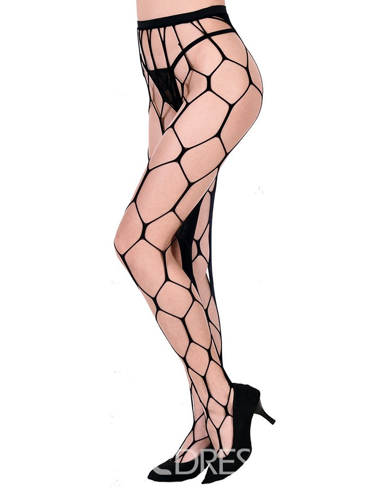 Ericdress Perspective Hollow Big Hole Sexy Pantyhose