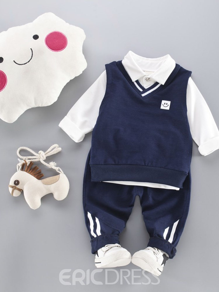 Ericdress Plain T Shirts Vest & Pants Baby Boy's Casual Outfits