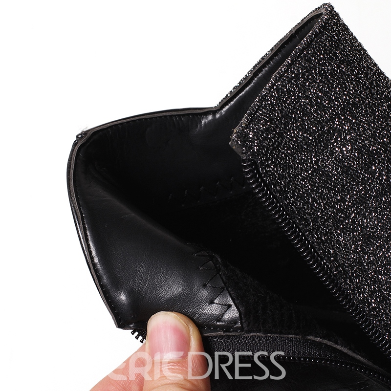 Ericdress Patchwork Kitten Heel Women's Ankle Boots