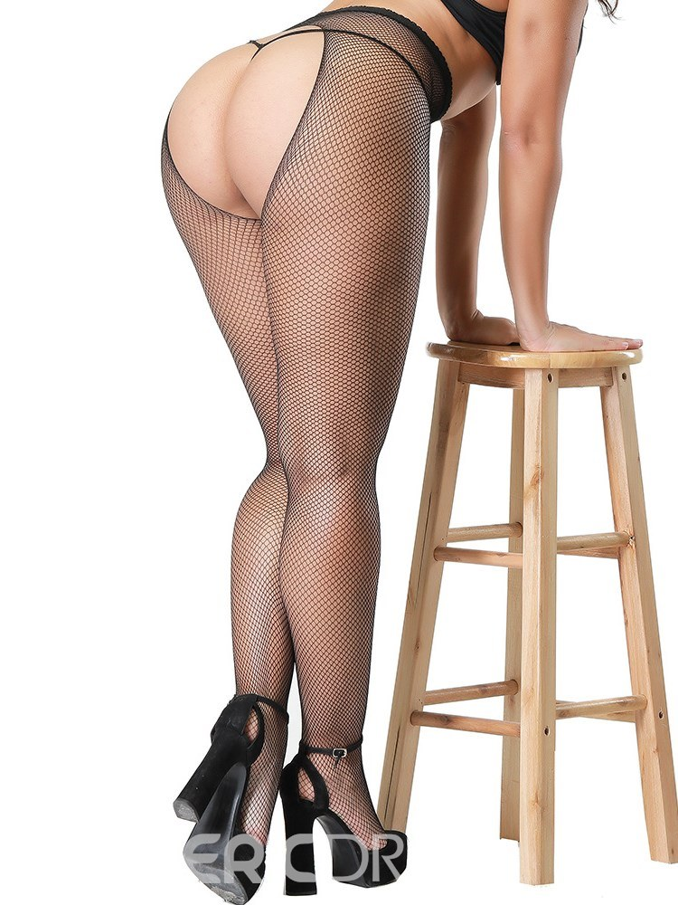 Ericdress Open Crotch Small Mesh Pantyhose