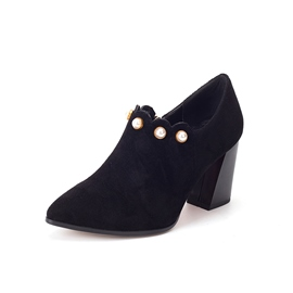Ericdress Beads Faux Suede Pointed Toe Women's Ankle Boots