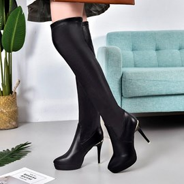 Ericdress Stiletto Heel Platform Knee High Boots