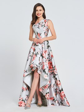 Ericdress A Line One Shoulder Print Asymmetry Prom Dress
