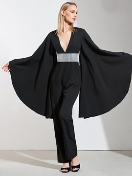 Ericdress Sheath Empire Black Long Sleeve Jumpsuit