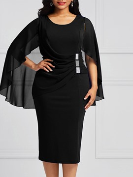 Ericdress Bodycon Knee-Length Batwing Sleeves Women's Dress