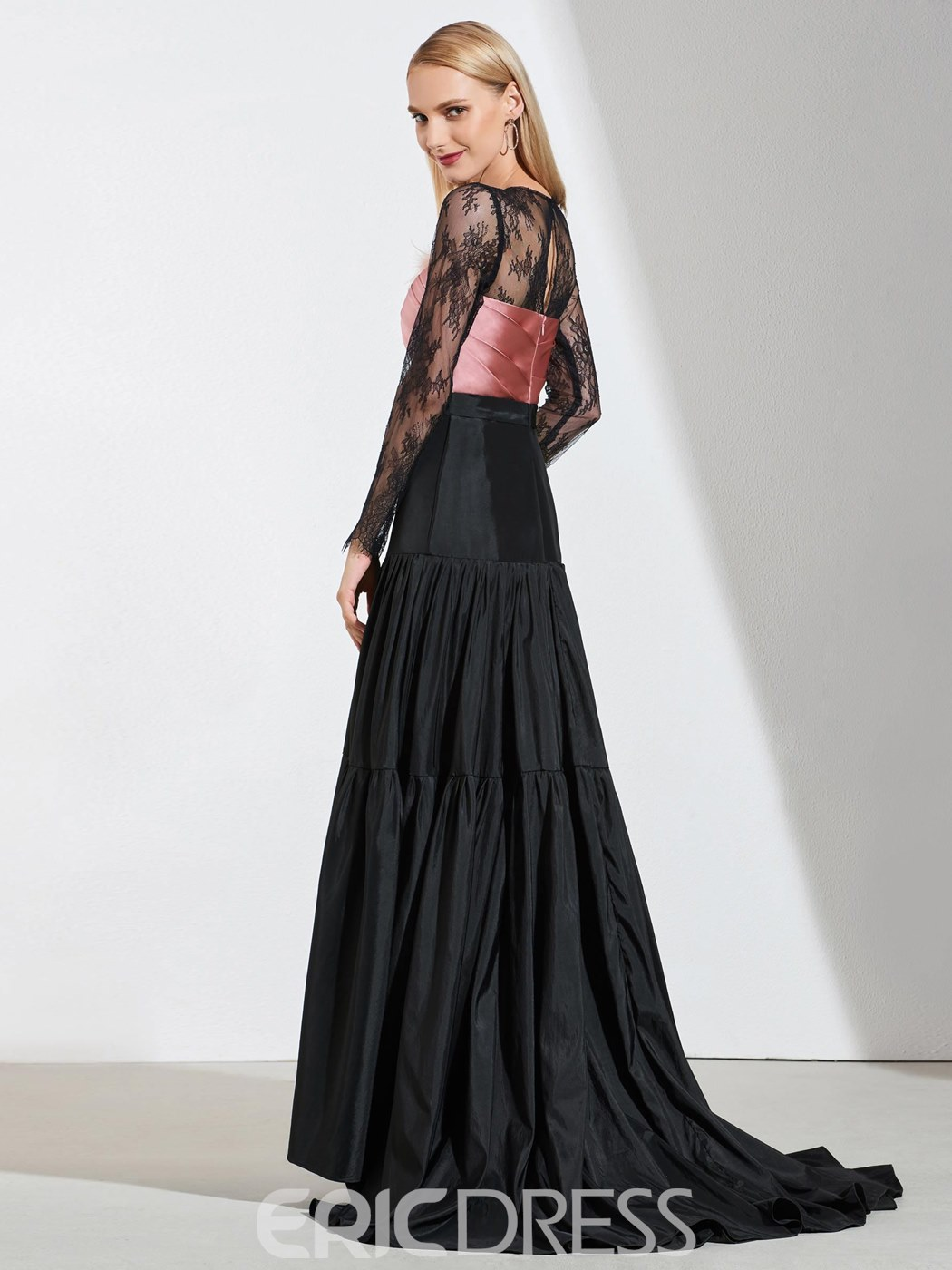 Ericdress A Line Long Sleeve Lace Evening Dress With Train