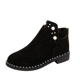 Ericdress Beads Round Toe Slip-On Women's Ankle Boots