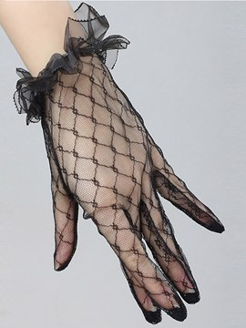 Ericdress Sexy Accessories Lace Hollow Short Gloves