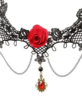 ericdress accessoires sexy rose collier pendentif clavicule