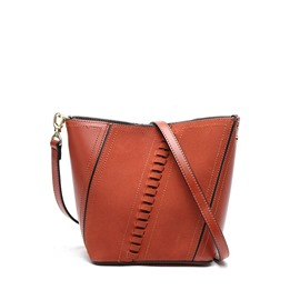 Ericdress Patchwork Magnetic Snap Shoulder Bag