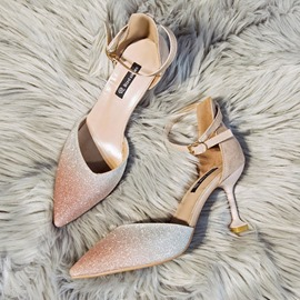 Ericdress Sequin Pointed Toe Stiletto Heel Women's Pumps