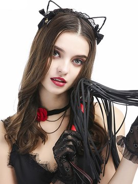 Ericdress Whip Cat-ears Headband Clavicle Chain Gloves Sexy 4 Pieces
