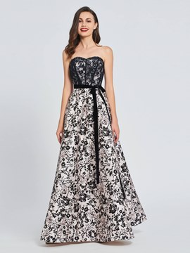 Ericdress A Line Sweetheart Print Long Prom Dress