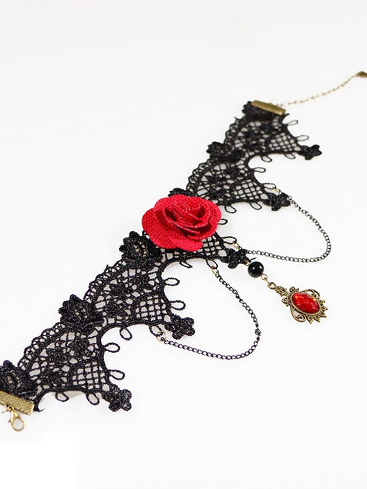 Ericdress Sexy Accessories Rose Clavicle Pendant Necklace