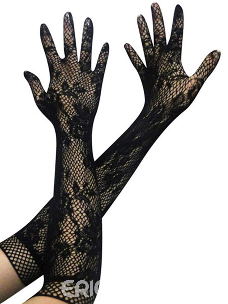 Ericdress Sexy Accessories Lace Hollow Elasticity Gloves