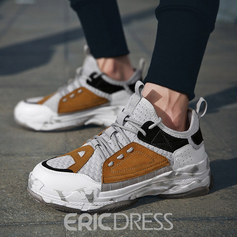 Ericdress Color Block Mesh Low-Cut Upper Men's Sneakers