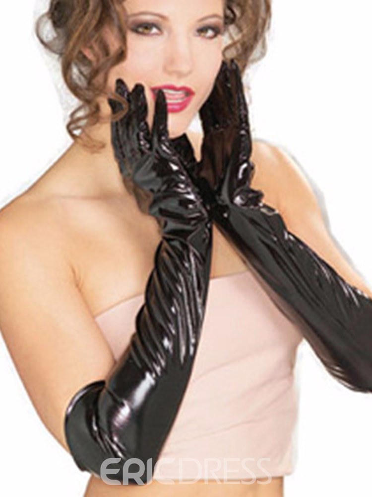 Ericdress Sexy Accessories PU Over Elbow Gloves