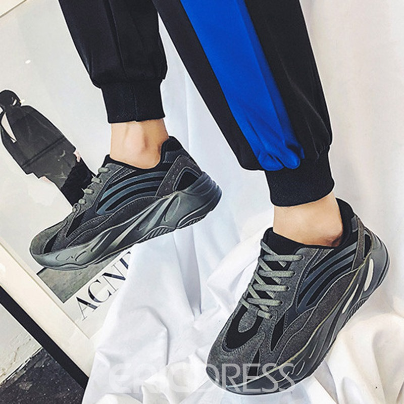 Ericdress Mesh Color Block Lace-Up Men's Chic Sneakers