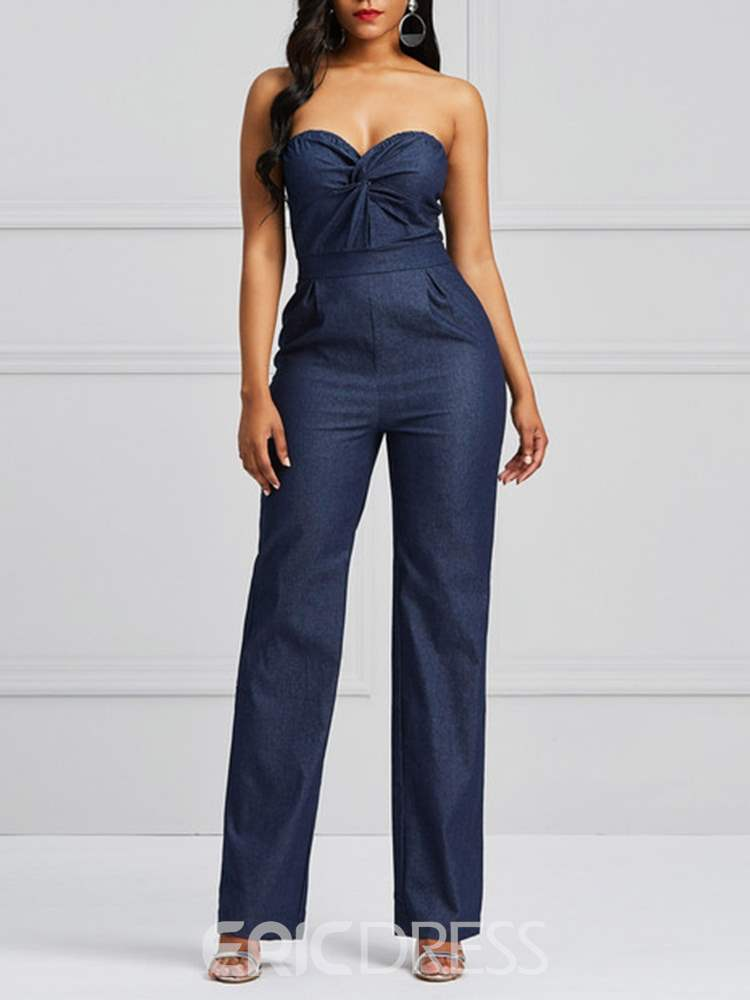 Ericdress Tube Top Slim Backless Women's Jumpsuits