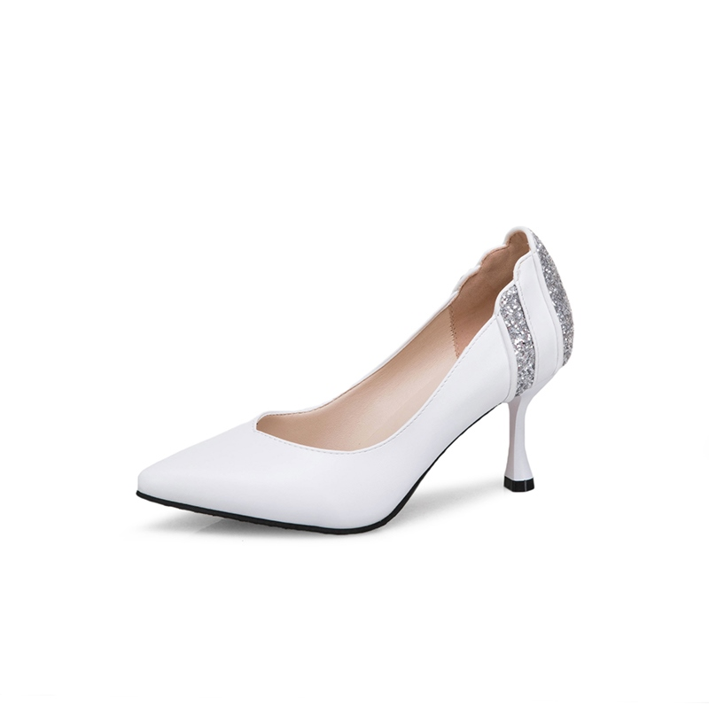 7d81998afc2 Ericdress Sequin Pointed Toe Stiletto Heel Pumps 13395153 ...