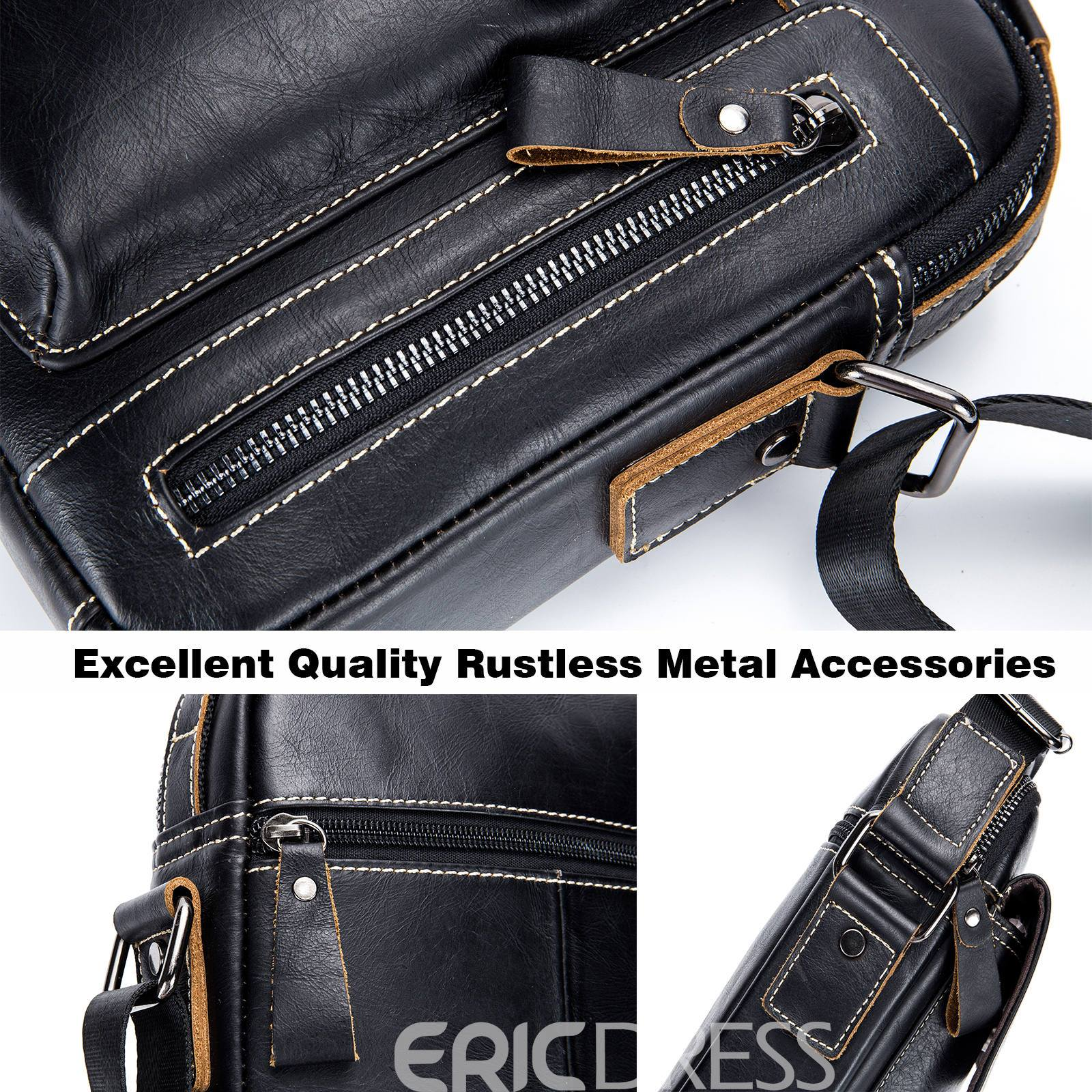 Ericdress Plain Leather European Square Crossbody Bags