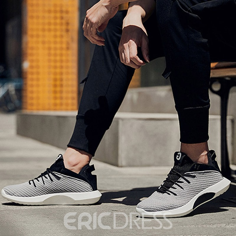 Ericdress Mesh Plain Lace-Up Men's Sneakers