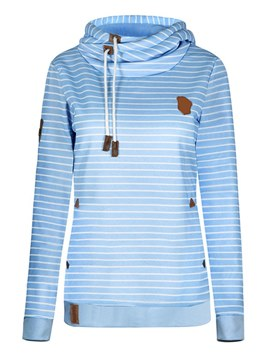 Ericdress Stripe Loose Casual Cool Hoodie