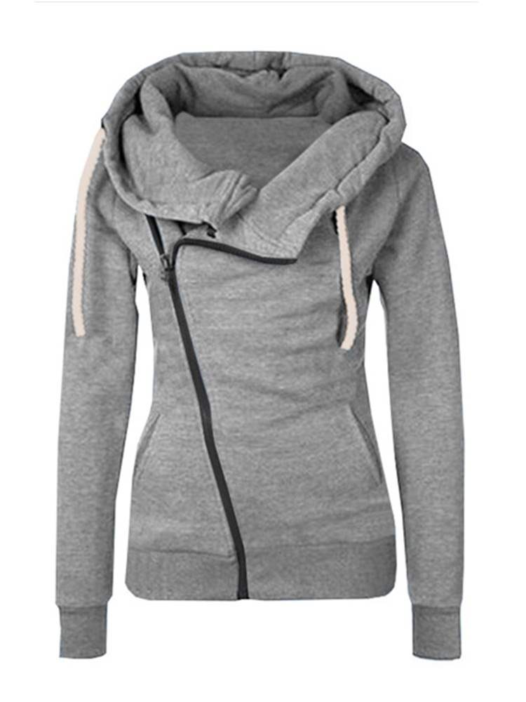 Ericdress Zipper Casual Long Sleeves Cool Hoodie