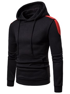 Ericdress Color Block Pullover Mens Casual Hoodies