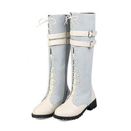 Ericdress Patchwork Side Zipper Women's Knee High Boots