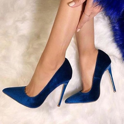 Ericdress Royal Blue Pointed Toe Stiletto Heel Pumps