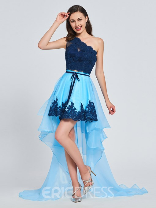 Ericdress A Line One Shoulder Asymmetry Prom Dress