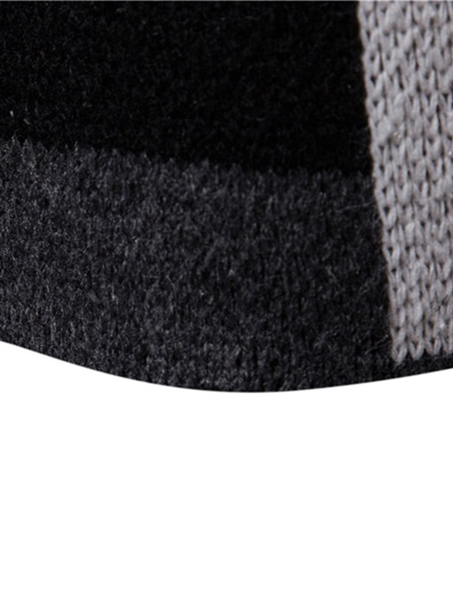 Ericdress Patchwork Mid-Length Hooded Mens Winter Cardigan Sweaters