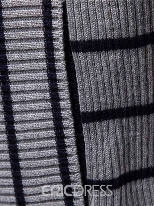 Ericdress Striped Hooded Fall Mens Casual Cardigan Sweaters