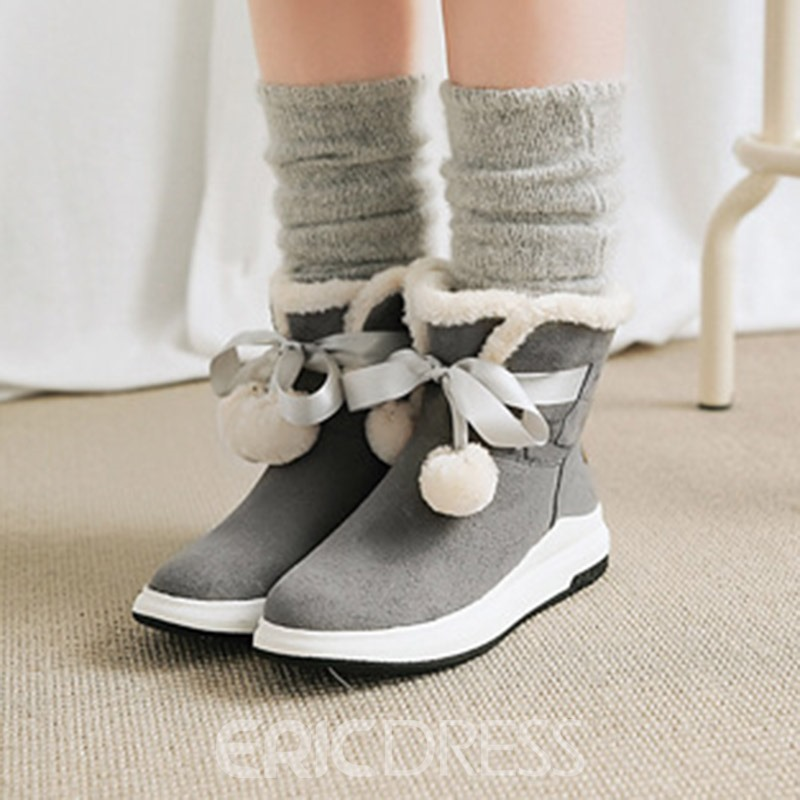 Ericdress Lace-Up Front Women's Snow Boots