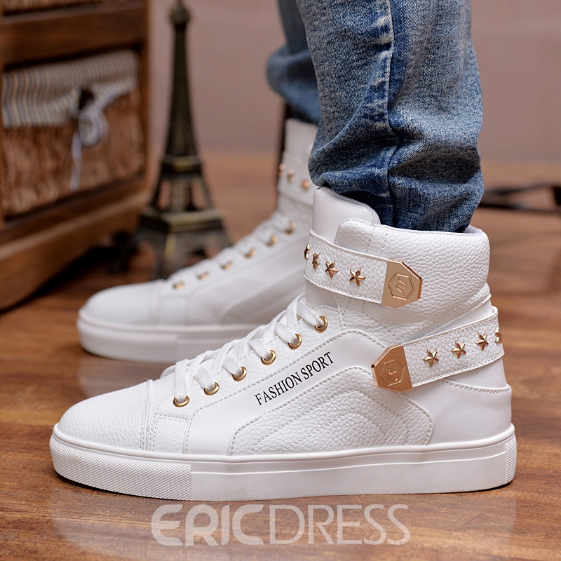 Ericdress Rivet High-Cut Upper Men's Skater Shoes