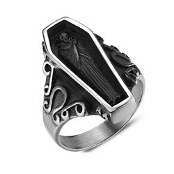 Ericdress Coffin Mens Ring