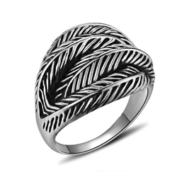 Ericdress Feather Mens Ring