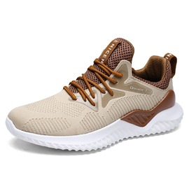 Ericdress Mesh Lace-Up Round Toe Casual Men's Sneakers