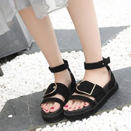 Ericdress Buckle Platform Ankle Strap Flat Sandals