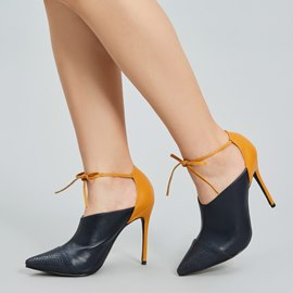 Ericdress OL Color Block Pointed Toe Stiletto Heel Pumps
