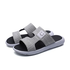 Ericdress Cloth Patchwork Slip-On Flip Flop Men's Sandals
