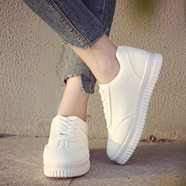 Ericdress Mesh Platform Lace-Up Round Toe Women's Sneakers