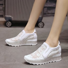 Ericdress Mesh Animal Embroidery Platform Slip-On Sneakers