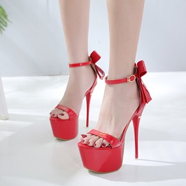 Ericdress Bowknot Platform Ultra-High Heel Sandals