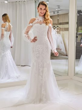 Ericdress Mermaid Long Sleeves Wedding Dress