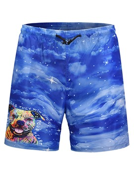 Ericdress Animal Printed Loose Mens Beach Board Swim Shorts