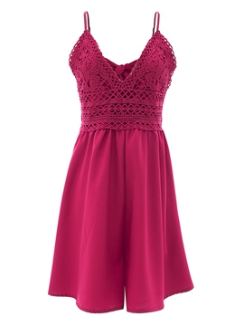 Ericdress Lace Spaghetti Strap Women's Rompers